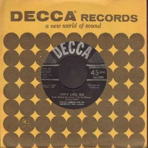 Jenkins, Gordon & His Orchestra & Chorus - They Like Ike/Lichtenburg (from film -Call Me Madam-) - NM9/ - 45 rpm Records