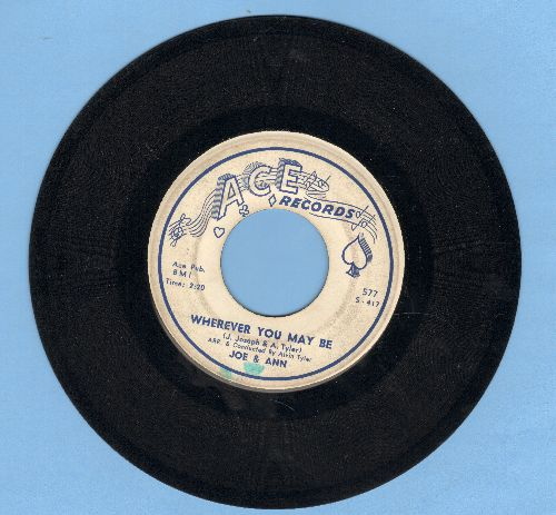 Joe & Ann - Gee Baby/Wherever You May Be - VG7/ - 45 rpm Records