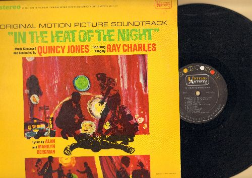 Jones, Quincy - In The Heat Of The Night - Original Motion Picture Soundtrack - music composed and conducted by Quincy Jones, Title Song by Ray Charles. (vinyl STEREO LP record) - EX8/EX8 - LP Records