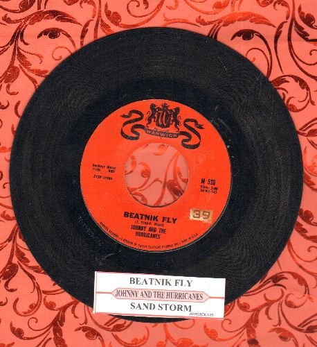 Johnny & The Hurricanes - Sand Storm/Beatnik Fly (with juke box label) - EX8/ - 45 rpm Records