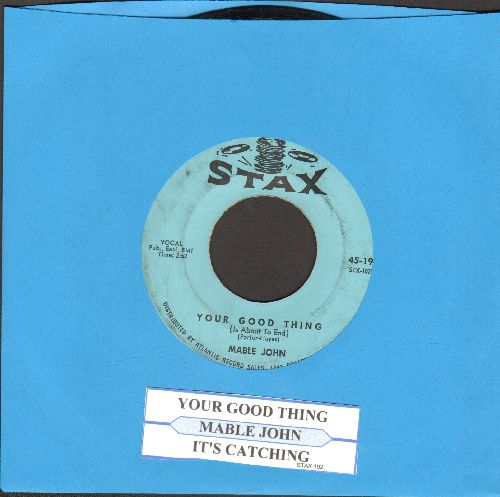 John, Mable - Your Good Thing/It's Catching - VG7/ - 45 rpm Records