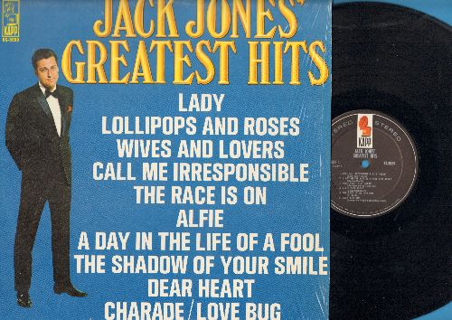 Jones, Jack - Greatest Hits: Lollipops And Roses, Love Bug, Afie, W#ives And Lovers, The Shadow Of Your Smile (vinyl STEREO LP record) - NM9/NM9 - LP Records