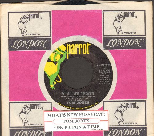 Jones, Tom - What's New Pussycat?/Once Upon A Time (with compny sleeve and juke box label) - NM9/ - 45 rpm Records