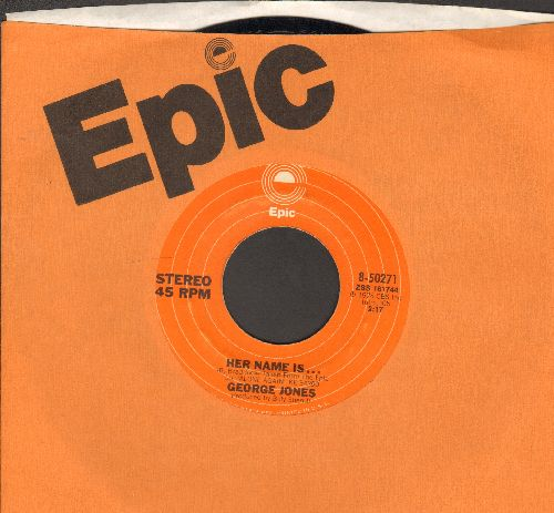 Jones, George - Her Name Is…/Diary Of My Mind (with Epic company sleeve) - NM9/ - 45 rpm Records