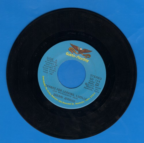 Jerrico, Sherri - Thanks For Leaving, Lucille (Answer to -Lucille-)/All Over Me - NM9/ - 45 rpm Records