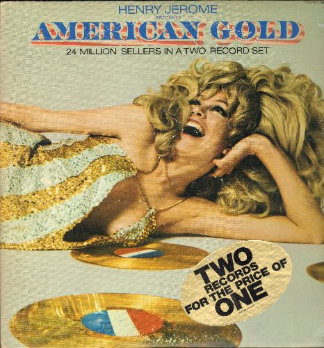 Jerome, Henry - American Gold: Uptight, Respect, Sunny, Baby Love, Light My Fire, Moon River (2 vinyl STEREO LP records, gate-fold cover) - NM9/EX8 - LP Records