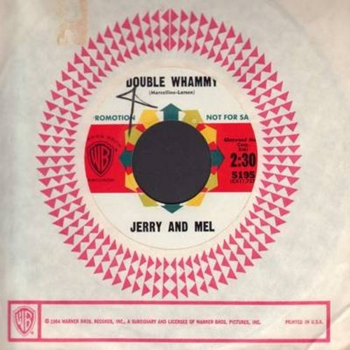 Jerry & Mel - Double Whammy/Confessions Of A North Beach Poet (DJ advance copy with vintage Warner Brothers company sleeve) - NM9/ - 45 rpm Records