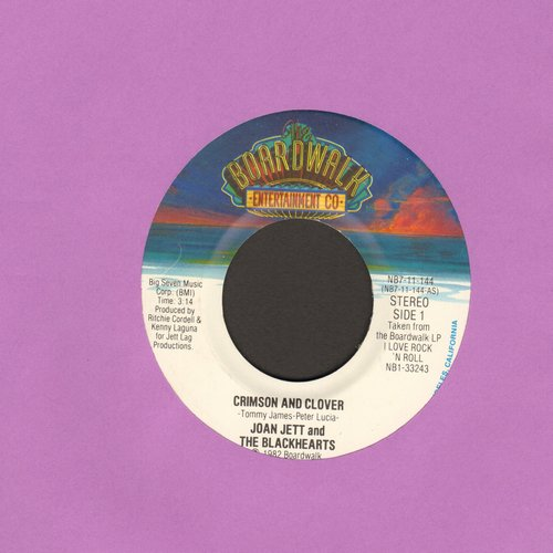 Jett, Joan & The Blackhearts - Crimson And Clover/Oh Woe Is Me (with juke box label) (wol) - EX8/ - 45 rpm Records