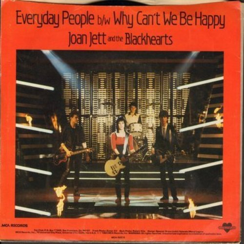 Jett, Joan & The Backhearts - Everyday People/Why Can't We Be Happy (with picture sleeve) - NM9/EX8 - 45 rpm Records