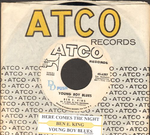 King, Ben E. - Young Boy Blues/Here Comes The Night (DJ advance pressing with juke box label and Atco company sleeve) - EX8/ - 45 rpm Records