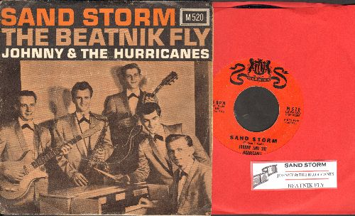 Johnny & The Hurricanes - Sand Storm/Beatnik Fly (with picture sleeve and juke box label) - EX8/EX8 - 45 rpm Records