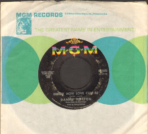 Hutton, Danny - Funny How Love Can Be/Dreamin' Isn't Good For You (with MGM company sleeve, bb) - VG7/ - 45 rpm Records