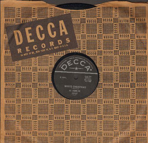 Hibbler, Al - White Christmas/Silent Night (RARE 10 inch 78 rpm record with Decca company sleeve) - NM9/ - 45 rpm Records