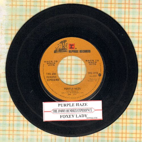 Hendrix, Jimi Experience - Purple Haze/Foxy Lady (double-hit re-issue with juke box label) - VG7/ - 45 rpm Records
