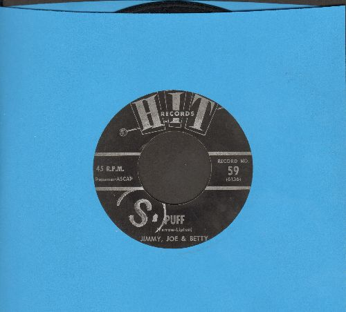 Jimmy, Joe & Betty - Puff (The Magic Dragon)/Don't Be Afraid Little darling (by Fred York on flip side) (cover versions of hit songs)(MINOR WOL) - VG7/ - 45 rpm Records