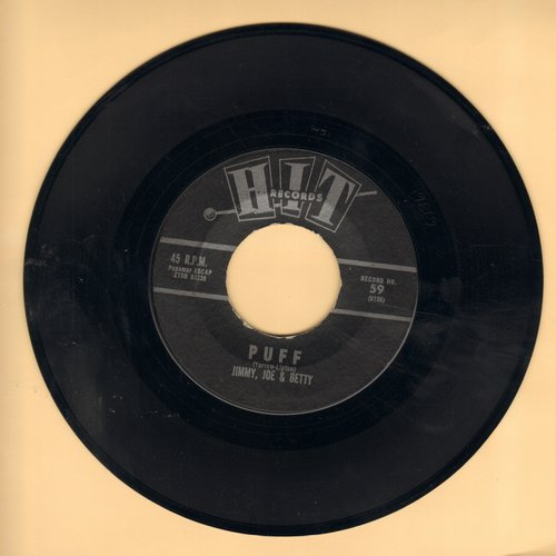 Jimmy, Joe & Betty - Puff (The Magic Dragon)/Don't Be Afraid Little darling (by Fred York on flip side) (cover versions of hit songs) - EX8/ - 45 rpm Records