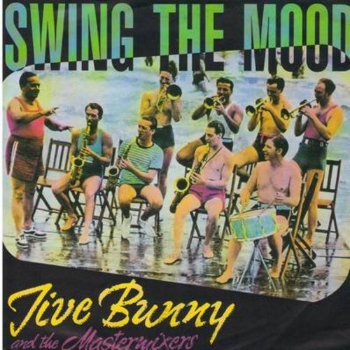 Jive Bunny & The Mastermixers - Swing The Mood/Glenn Miller Medley (GERMAN Pressing with picture sleeve) - NM9/NM9 - 45 rpm Records