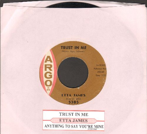 James, Etta - Trust In Me/Anything To Say You're Mine - EX8/ - 45 rpm Records