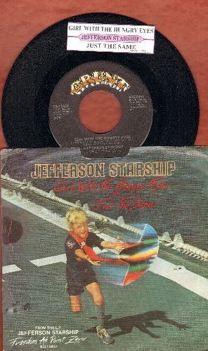 Jefferson Starship - Girl With The Hungry Eyes/Just The Same (with juke box label and picture sleeve) - NM9/EX8 - 45 rpm Records