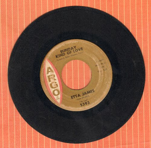 James, Etta - Sunday Kind Of Love/Don't Cry, Baby - VG6/ - 45 rpm Records
