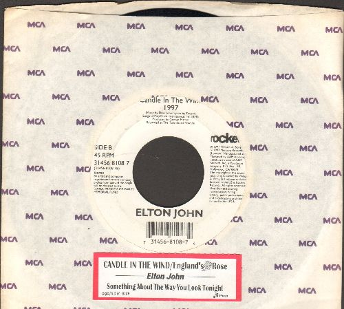 John, Elton - Candle In The Wind 1997 (England's Rose)/Something About The Way You Look Tonight (with juke box label) - EX8/ - 45 rpm Records