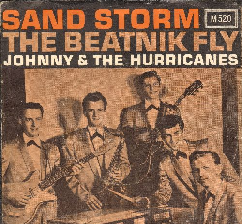 Johnny & The Hurricanes - Sand Storm/Beatnik Fly (with picture sleeve) - NM9/VG7 - 45 rpm Records