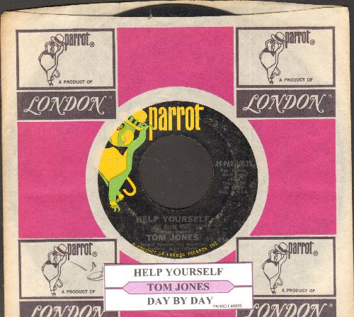 Jones, Tom - Help Yourself/Day By Day (with juke box label and company sleeve)  - VG7/ - 45 rpm Records
