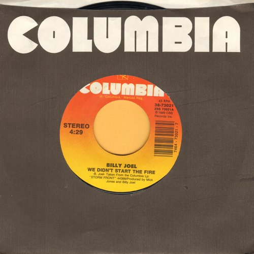 Joel, Billy - We Didn't Start The Fire/House Of Blue Light (MINT condition with Columbia company sleeve) - M10/ - 45 rpm Records