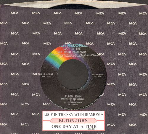 John, Elton - Lucy In The Sky With Diamonds/One Day At A Time (with juke box label) - NM9/ - 45 rpm Records