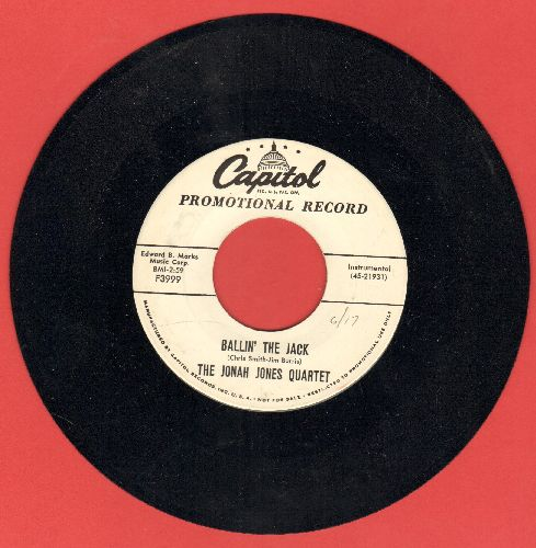 Jones, Jonah Quartet - Ballin' The Jack (slow Instrumental  version of the Jazz Classic)/Slowly But Surely (DJ advance pressing, sol) - NM9/ - 45 rpm Records