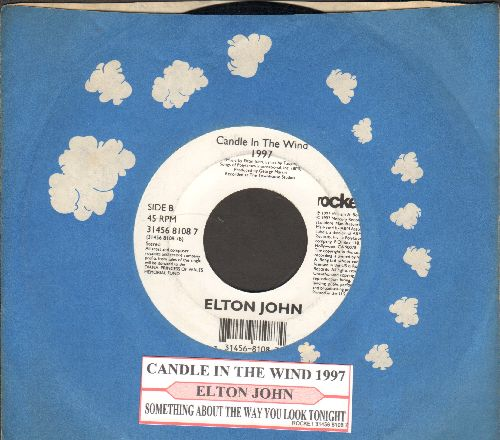 John, Elton - Candle In The Wind 1997 (England's Rose)/Something About The Way You Look Tonight (with juke box label and Rocket company sleeve) - NM9/ - 45 rpm Records