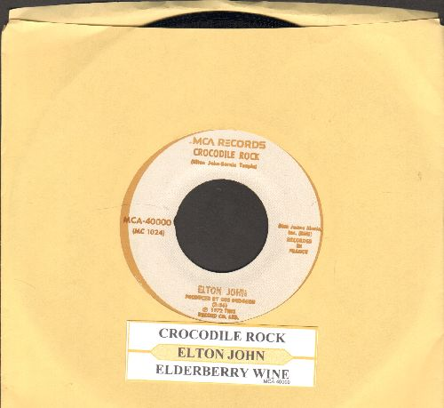 John, Elton - Crocodile Rock/Elderberry Wine (with juke box label) - NM9/ - 45 rpm Records