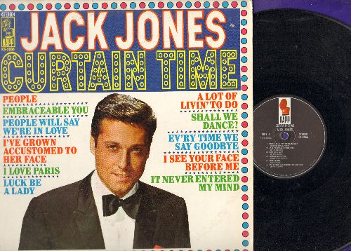 Jones, Jack - Curtain Time: People, I Love Paris, People Will Say We're In Love, Shall We Dance? (vinyl STEREO LP record) - NM9/NM9 - LP Records
