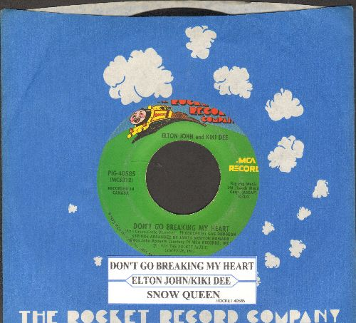 John, Elton & Kiki Dee - Don't Go Breaking My Heart/Snow Queen (with juke box label and company sleeve) - VG7/ - 45 rpm Records