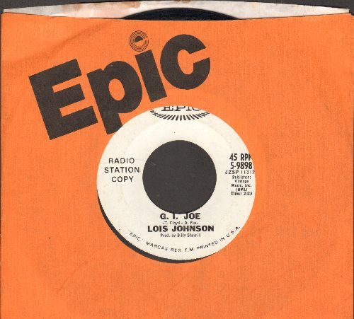 Johnson, Lois - G. I. Joe/Heaven In My Arms (DJ advance pressing with Epic company sleeve) - EX8/ - 45 rpm Records
