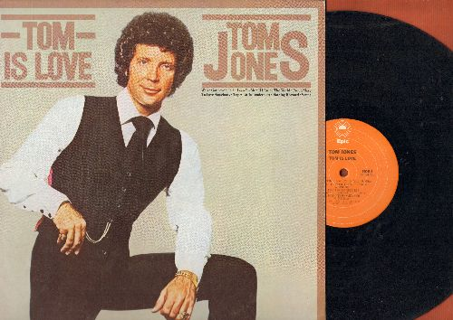 Jones, Tom - Tom Is Love: Proud Mary, Venus, To Love Somebody, Try A Little Tenderness (vinyl STEREO LP record) - EX8/EX8 - LP Records