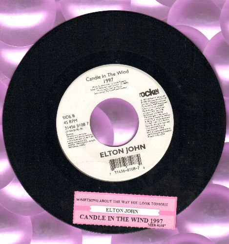 John, Elton - Candle In The Wind 1997 (England's Rose)/Something About The Way You Look Tonight (MINT condition with juke box label) - M10/ - 45 rpm Records