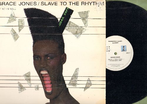 Jones, Grace - Slave To The Rhythm (4:54)/Junk Yard (5:17)/G.I. Blues (3:37) (12 inch vinyl Maxi Single with picture cover) - EX8/EX8 - Maxi Singles