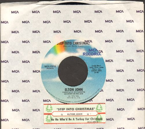 John, Elton - Step Into Christmas/Ho Ho Ho (Who's Be A Turkey At Christmas)(with juke box label and MCA company sleeve) - NM9/ - 45 rpm Records
