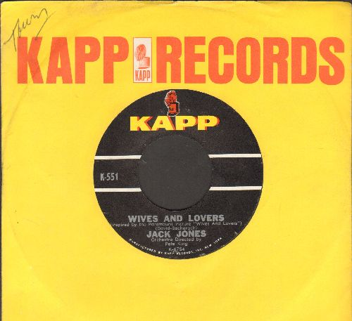 Jones, Jack - Wives And Lovers/Toys In The Attic (with Kapp company sleeve) - NM9/ - 45 rpm Records