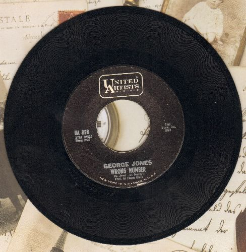 Jones, George - Wrong Number/The Old, Old House - NM9/ - 45 rpm Records