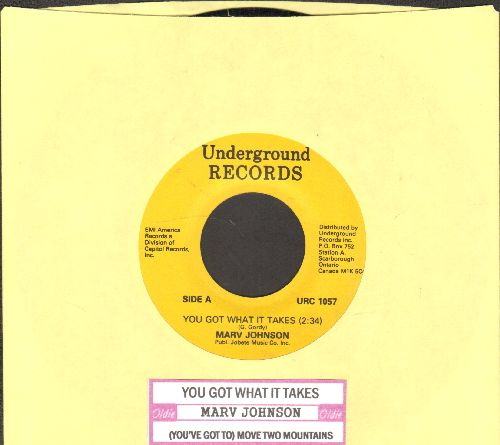 Johnson, Marv - You Got What It Takes/Move Two Mountains (double-hit re-issue with juke box label) - NM9/ - 45 rpm Records