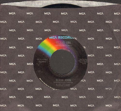 John, Elton - Sugar On The Floor/Island Girl (with MCA company sleeve) - EX8/ - 45 rpm Records