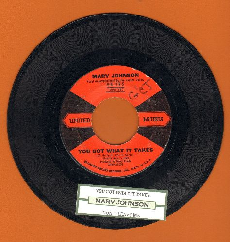 Johnson, Marv - You Got What It Takes/Don't Leave Me (red/black label first issue with juke box label) - EX8/ - 45 rpm Records