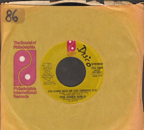 Jones Girls - You Gonna Make Me Love Somebody Else/Who Can I Run To (with company sleeve) (minor wol) - EX8/ - 45 rpm Records