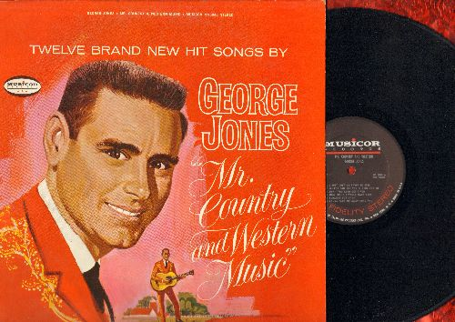 Jones, George - Mr. Country and Western Music: I Just Lost My Favorite Girl, The Sea Between Our Hearts, Let A Little Loving Come In, Worst Of Luck (vinyl STEREO LP record) - NM9/EX8 - LP Records