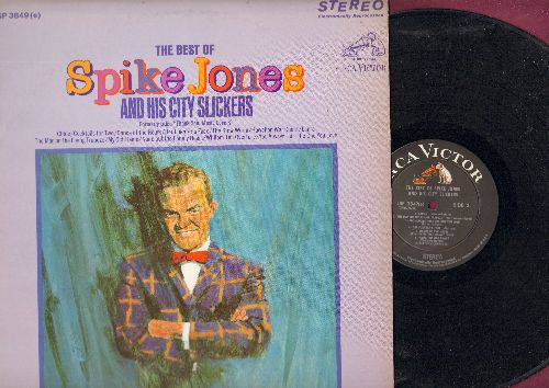 Jones, Spike & His City Slickers - The Best Of Spike Jones and his City Slickers: Cocktails For two, My Old Flame, Cloe, Der Fuehrer's Face, The Glow Worm (vinyl STEREO LP record, 1967 black label early issue) - NM9/EX8 - LP Records