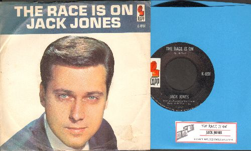 Jones, Jack - The Race Is On/I Can't Believe I'm Losing You (with picture sleeve and juke box label) - NM9/NM9 - 45 rpm Records