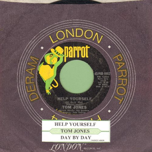 Jones, Tom - Help Yourself/Day By Day (with juke box label and company sleeve)  - NM9/ - 45 rpm Records