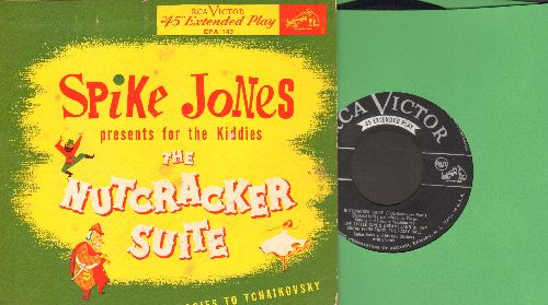 Jones, Spike & His City Slickers with Chorus - Spike Jones Presents For aThe Kiddies The Nutcracker Suite ( with apologies to Tchaikovsky) (vinyl EP record with picture cover) - EX8/VG7 - 45 rpm Records
